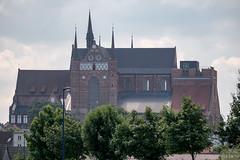 Wismar: Blick vom Alten Hafen zur Georgenkirche - St. George's Church seen from the Old Harbour
