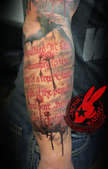 second 2nd Amendment NRA Lettering Tattoo by Jackie Rabbit