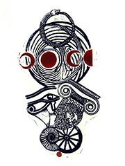 Luciana De Simoni, UROBORO, Linoleumgrafia, 2017