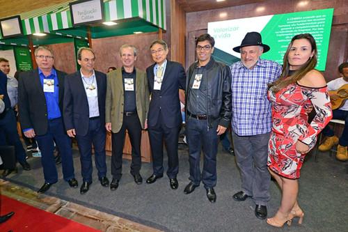 Fabiano Gaggiato, Luciano Araujo, Sergio Leite, Naohiro Doi, Sanzio Figueiredo, Sebastião Quintão e esposa