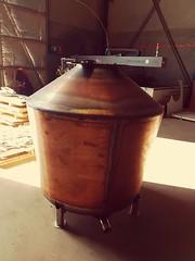 1200 litre Still for Winding Road Distilling under construction.