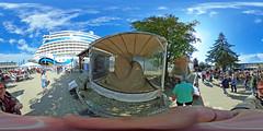 Hanse Sail 2017 - Pier 7 und Aida Diva 360 Grad