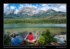 Morning at Pyramid Island with Pyramid Mountain, Jasper National Park, Alberta