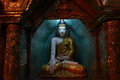 Buddha Sculpture at the Shwedagon Pagoda