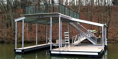 Sundeck Dock Glass Railing