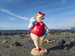 fat lass at the beach