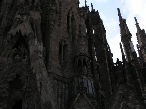 Barcelona Sagrada Familia outside facade