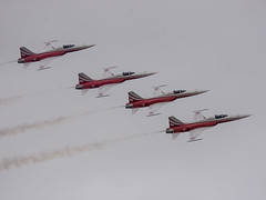 Swiss Air Force Patrouille Suisse F-5E Tiger II RIAT 2017