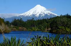 Mount Taranaki viewed from Lake Mangamahoe