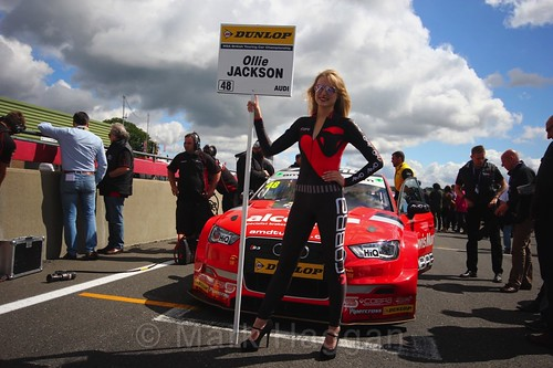 Ollie Jackson on the BTCC grid at Snetterton, July 2017