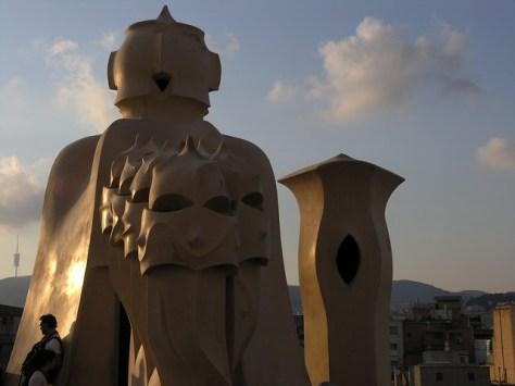Barcelona Casa Milà roof sculpture 4
