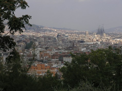 Barcelona vista from mount Juich