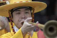 Deoksugung Palace guards performing change of the guard ceremony for tourists in Seoul, the capital city of South Korea. Despite recent tensions with North Korea, life and business in Seoul is normal, October 13, 2017.