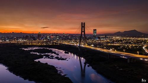 新北大橋夕陽