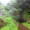 Photo:大久保間歩(まぶ) 世界遺産・石見銀山・島根県 限定ツアーでのみ参加できる石見銀山最大の銀採掘の坑道。 ツアー中止判断ギリギリの大雨のため、坑道内も水没し長靴の中まで水が入ってくるほど。 Okubo Mabu Mine Shaft. World Heritage, Iwami Ginzan Silver Mine, Shimane, Japan. The largest silver mining tunnel of Iwami Ginzan which can participate only on l By