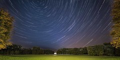 Star trails in the Bürgerpark