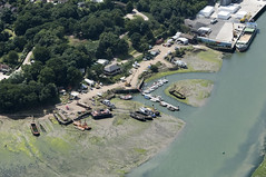 Mistley on the River Stour in Essex - UK aerial