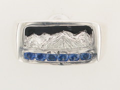 Rockies Collection .5cttw Ceylon Sapphire Continuum Silver Ring