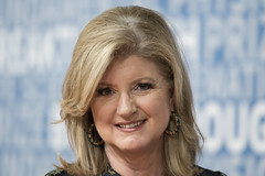 MOUNTAIN VIEW, CA - DECEMBER 03: Arianna Huffington attends the 2018 Breakthrough Prize at NASA Ames Research Center on December 3, 2017 in Mountain View, California. (Photo - Yichuan Cao / Sipa USA)
