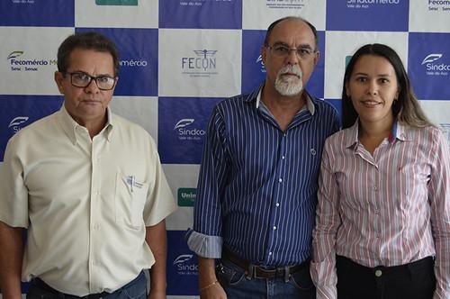 Fábio de Freitas Campos, Ladico Oliveira e Ismara Carla - Foto Emmanuel Franco