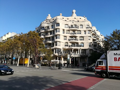 """Casa Milà Gaudi Barcelona • <a style=""""font-size:0.8em;"""" href=""""http://www.flickr.com/photos/160223425@N04/38807664841/"""" target=""""_blank"""">View on Flickr</a>"""