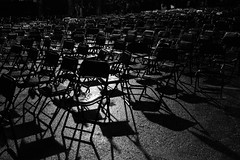 Chairs left alone