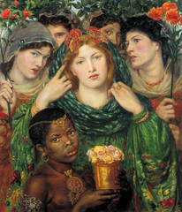 """Dante Gabriel Rossetti """"The Beloved ('The Bride') 1865-6"""