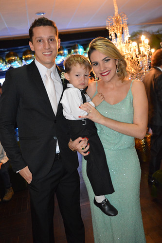 O irmão da noiva, Rabib, com Letícia e Bernardo