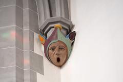 Görlitz: Gewölbekonsole in Gestalt eines Narren im Chor der Frauenkirche - Corbel in the shape of a jester's face