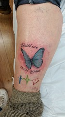 Flutterby butterfly Chad Nicely tattoos