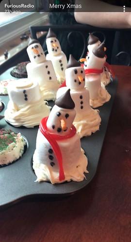 Snowman cupcakes! Thanks X