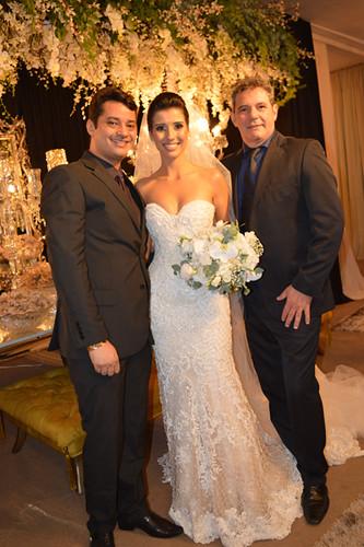 Luís Gustavo Santos e Rubens Marliére, responsáveis pela beleza da noiva