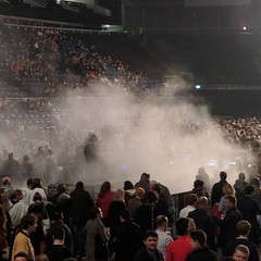 I hope all that smoke is *supposed* to be coming out of the mixing desk