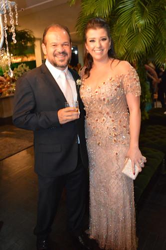 Keka Maia e Lili Facundes, irmã da noiva