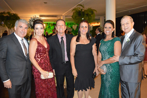 Lintz Torres e sua elegantíssima Cristina, Rivadávia e Vera, Penha e José Maria Facundes