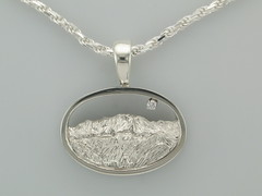 The Rockies Continuum Silver & Diamond Pikes Peak & G.o.G Pendant