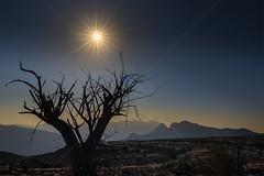 Sun dropping on Jebel Shams