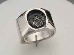 The Rockies gent's SS ring octagonal oval