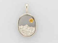 The Rockies - 14KW & 3mm Yellow Sapphire Pendant