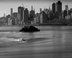 Long exposure of the East River from Randall's Island Park, NYC
