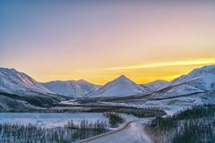 Sunset at Oymyakon