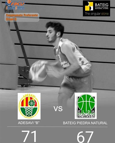 J16-Liga Preferente Adesavi vs CB Elda (4-2-18)