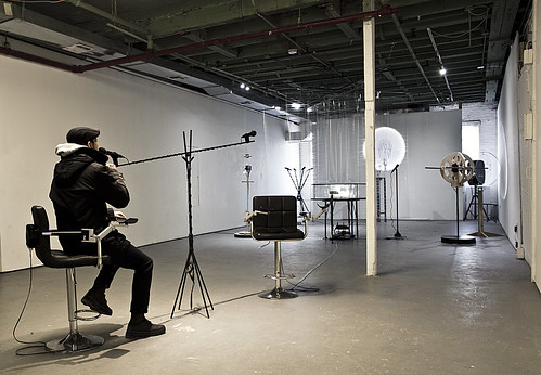 Installation view (Seesaw microphone)