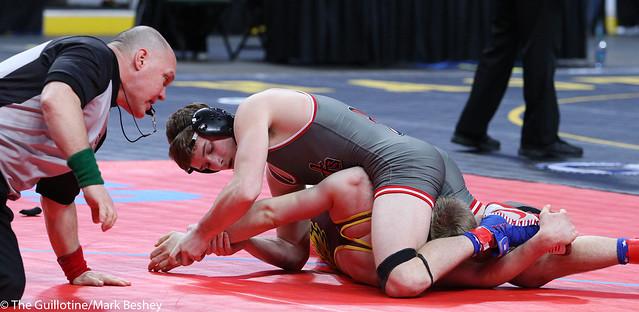 160A 3rd Place Match - Kaden Spindler (West Central Area-Ashby-Brandon-Evansville) 44-4 won by fall over Jackson Held (Royalton-Upsala) 43-6 (Fall 1:25) - 180303bmk0108