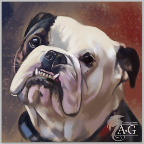 "Bulldog Painting • <a style=""font-size:0.8em;"" href=""http://www.flickr.com/photos/8497929@N02/40349262131/"" target=""_blank"">View on Flickr</a>"