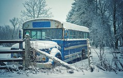 Snow and the bus!