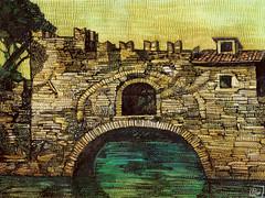 Ponte Nomentano, inchiostro, 2017