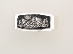 The Rockies Continuum Silver & .015ct Diamond 3 Peak Gents Ring