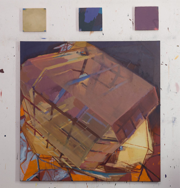 anomale D., 120x120cm, Eggtempera-Oil-Pigment, 2017