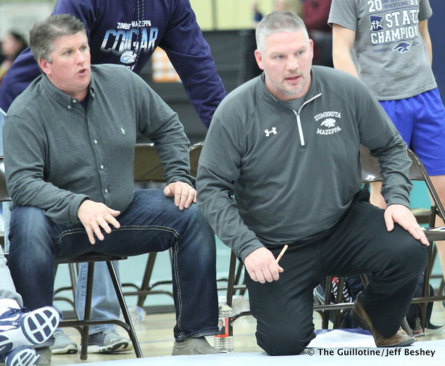 Zumbrota-Mazeppa Coaches Mark Krier and Link Steffen. 171229AJF0421